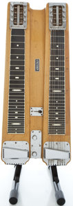 Musical Instruments:Lap Steel Guitars, 1950's Fender Professional Double 8 Blonde Lap Steel Guitar#1308...