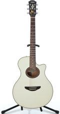 Musical Instruments:Acoustic Guitars, Yamaha APX-6 White Acoustic Electric Guitar #303117044...