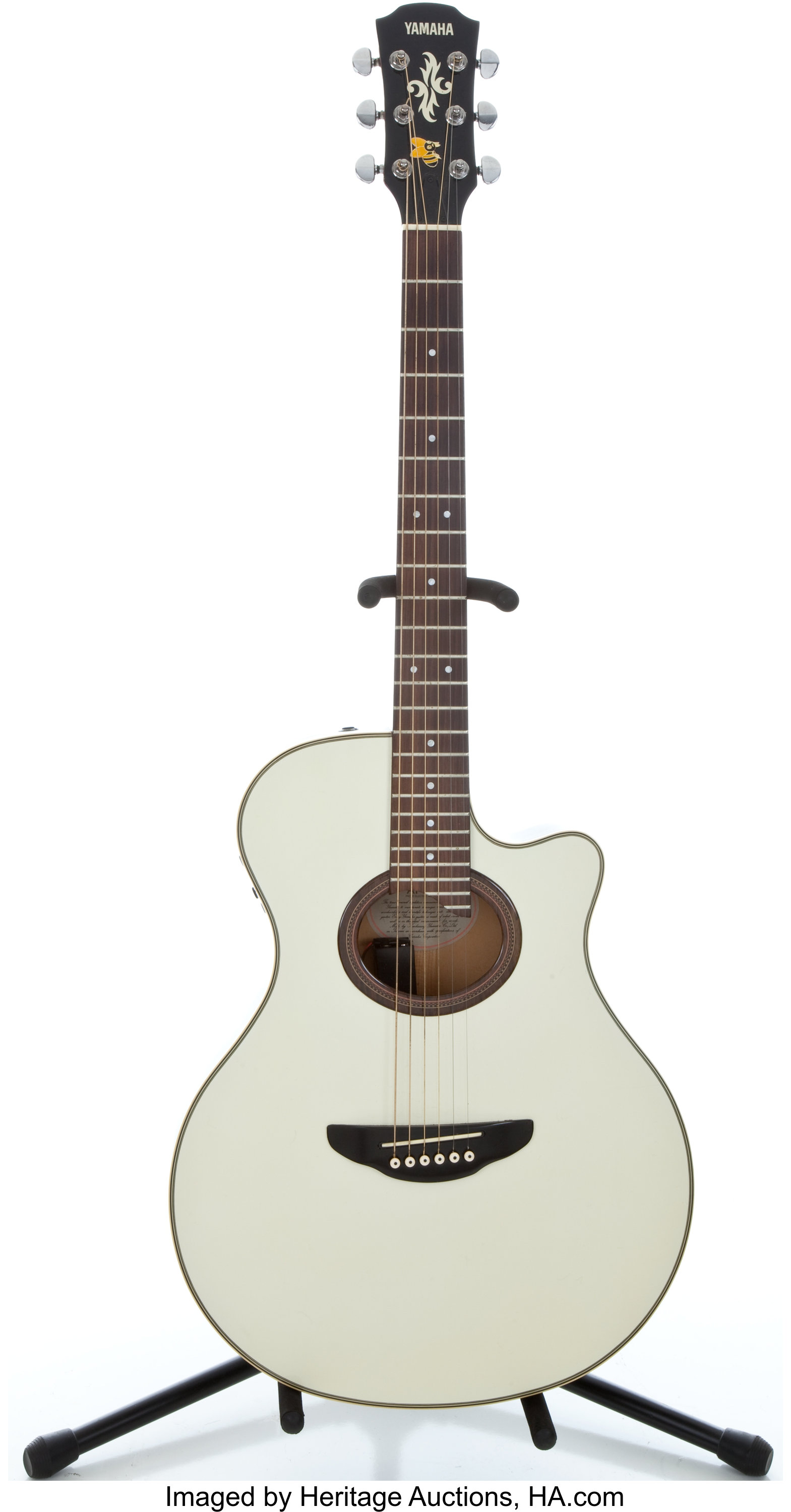 yamaha apx 6 white acoustic electric guitar 303117044 musical lot 82023 heritage auctions. Black Bedroom Furniture Sets. Home Design Ideas