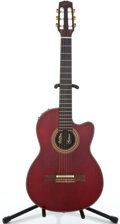 Musical Instruments:Acoustic Guitars, 2001 Gibson Chet Atkins Cherry Classical Guitar #02881647...