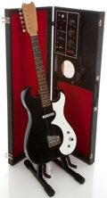 Musical Instruments:Electric Guitars, 1960's Silvertone Amp-In-Case Black Solid Body Electric Guitar ...