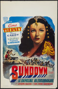 "Movie Posters:War, Sundown and Other Lot (Alfa, R-1950s). Belgian Posters (2) (14"" X22""). War.. ... (Total: 2 Items)"
