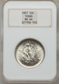 Commemorative Silver: , 1937 50C Texas MS64 NGC. NGC Census: (217/837). PCGS Population(421/1048). Mintage: 6,571. Numismedia Wsl. Price for probl...