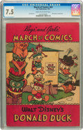 Golden Age (1938-1955):Funny Animal, March of Comics #69 Donald Duck (K. K. Publications Inc., 1951) CGCVF- 7.5 Cream to off-white pages....