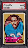 Football Cards:Singles (1970-Now), 1970 Topps O.J. Simpson Rookie #22 PSA NM-MT 8....