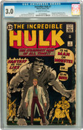 Silver Age (1956-1969):Superhero, The Incredible Hulk #1 (Marvel, 1962) CGC GD/VG 3.0 Off-white towhite pages....