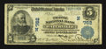 National Bank Notes:Maine, Waterville, ME - $5 1902 Plain Back Fr. 598 The Ticonic NB Ch. #(N)762. ...