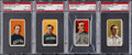 Baseball Cards:Lots, 1909-11 T206 White Border PSA-Graded Quartet (4) - With AmericanBeauty Back! ...