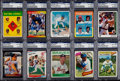 Autographs:Sports Cards, 1960's-1980's Signed Baseball PSA/DNA Encapsulated Collection (17)....