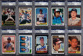 Autographs:Sports Cards, Signed Baseball Cards PSA/DNA Encapsulated Collection (17). ...