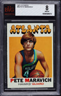 Basketball Cards:Singles (1970-1979), 1971 Topps Pete Maravich #55 BVG NM-MT 8....