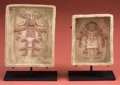 Pre-Columbian:Ceramics, Maya Offering Box with Deceased Figures...