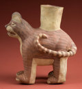Pre-Columbian:Ceramics, Large Chancay Jaguar Effigy Jar...