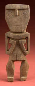 American Indian Art:Wood Sculpture, Ica Wood Votive Figure of a Priest...