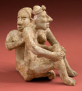 Pre-Columbian:Ceramics, Jalisco, A Delightful Romantic Couple...