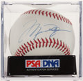 Autographs:Baseballs, Michael Jordan Single Signed Baseball, PSA Mint 9. ...