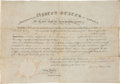Autographs:U.S. Presidents, James Monroe Military Appointment Signed...