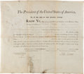 Autographs:U.S. Presidents, John Adams Military Appointment Signed...
