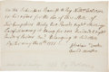 "Military & Patriotic:Revolutionary War, [Revolutionary War] Revolutionary War Receipt for Gunpowder Signed""Abraham Drake""...."
