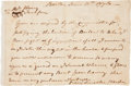 Autographs:Military Figures, Benjamin Lincoln Autograph Letter Signed....