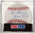 Autographs:Baseballs, Don Larsen and Yogi Berra Dual-Signed Perfect Game Baseball. ...