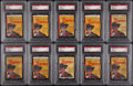 Non-Sport Cards:Lots, 1958 Argentina Zorro PSA-Graded Paper Packs Collection (10). ...