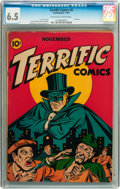Golden Age (1938-1955):Crime, Terrific Comics #6 (Continental Magazines, 1944) CGC FN+ 6.5 Off-white to white pages....