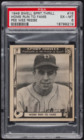 "Baseball Cards:Singles (1940-1949), 1948 Swell Sport Thrills ""Home Run To Fame"" Reese #18 PSA EX-MT6...."