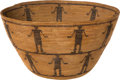 American Indian Art:Baskets, A YOKUTS PICTORIAL COILED BOWL. c. 1890...