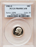 Proof Roosevelt Dimes: , 1982-S 10C PR69 Deep Cameo PCGS. PCGS Population (2634/120). NGCCensus: (421/73). Numismedia Wsl. Price for problem free ...