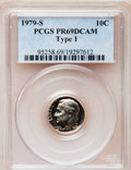 Proof Roosevelt Dimes: , 1979-S 10C Type One PR69 Deep Cameo PCGS. PCGS Population(4677/276). Numismedia Wsl. Price for problem...