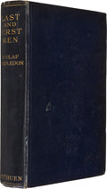 Books:Signed Editions, Olaf Stapledon. Last and First Men. London: Methuen &Co., 1931. Second edition. Inscribed presentation copy to ...
