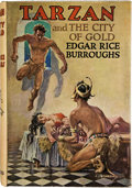 Books:Signed Editions, Edgar Rice Burroughs. Tarzan and the City of Gold. London: John Lane the Bodley Head, 1936. First British edition. ...