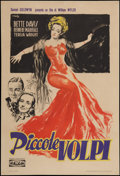 "Movie Posters:Drama, The Little Foxes (Trans World, 1947). Italian Foglio (26.5"" X 39"").Drama.. ..."
