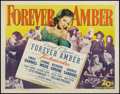 "Movie Posters:Drama, Forever Amber (20th Century Fox, 1947). Half Sheet (22"" X 28""). Drama.. ..."