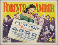 "Forever Amber (20th Century Fox, 1947). Half Sheet (22"" X 28""). Drama"