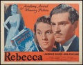 "Movie Posters:Hitchcock, Rebecca (Selznick, R-1948). Half Sheet (22"" X 28""). Hitchcock.. ..."