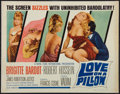 "Movie Posters:Romance, Love on a Pillow (Royal Films International, 1963). Half Sheet (22"" X 28""). Romance.. ..."