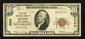 National Bank Notes:West Virginia, Hinton, WV - $10 1929 Ty. 1 The First NB Ch. # 5562. ...