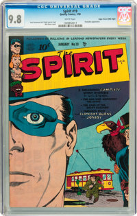 The Spirit #19 Mile High pedigree (Quality, 1950) CGC NM/MT 9.8 White pages