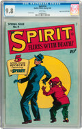 Golden Age (1938-1955):Superhero, The Spirit #4 Mile High pedigree (Quality, 1946) CGC NM/MT 9.8 White pages....