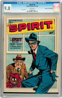 The Spirit #6 Mile High pedigree (Quality, 1946) CGC NM/MT 9.8 White pages