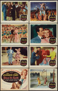 "Movie Posters:Musical, Down to Earth (Columbia, 1947). Lobby Card Set of 8 (11"" X 14""). Musical.. ... (Total: 8 Items)"