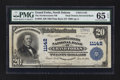 Error Notes:Double Denominations, Grand Forks, ND - $20 1902 Plain Back Fr. 658 The Northwestern NB Ch. # 11142 Double Denomination. ...