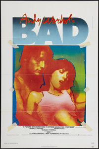 "Andy Warhol's Bad (New World, 1977). One Sheet (27"" X 41"") Flat Folded. Exploitation"