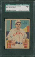"Baseball Cards:Singles (1930-1939), 1934-36 National Chicle ""Diamond Stars"" Carl Hubbell #50 SGC 60 EX5...."