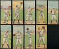 Baseball Cards:Lots, 1911 T201 Mecca Double Folders Collection (9) With HoFers. ...