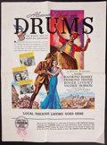 "Movie Posters:Adventure, Drums (United Artists, 1938). Uncut Pressbook (24 Pages, 12"" X18""). Adventure.. ..."