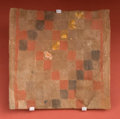 American Indian Art:Pottery, Square Chucu Tile Depicting a Textile...