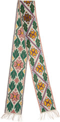 American Indian Art:Beadwork and Quillwork, A GREAT LAKES BEADED BANDOLIER STRAP. c. 1900...